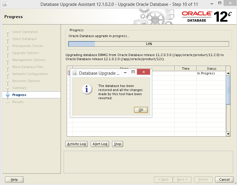 Connected DBA - Oracle Consultancy: 11g to 12c DBUA